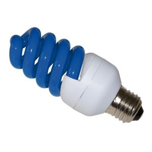 Bec economic torsionat E27 15W albastru Lohuis