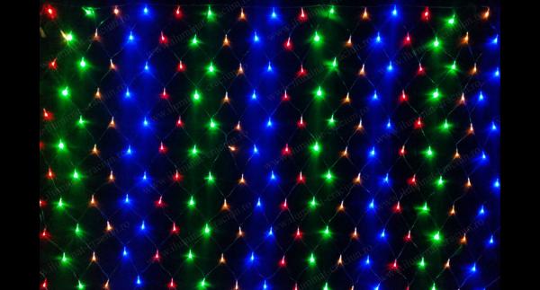Instalatie multicolora plasa 1,5mX1,5m LED
