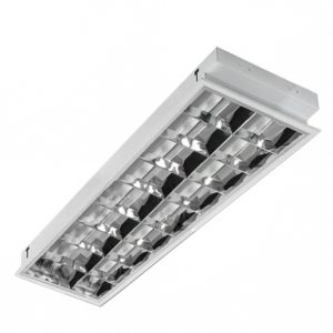 Corp iluminat incastrabil tip FIRA 2x36W cu balast electromagnetic LOHUIS