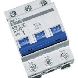 Siguranta automata tripolara HEPOL, 3kA, 50A